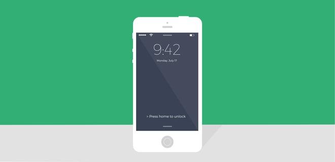Imagem da tela de bloqueio do iPhone