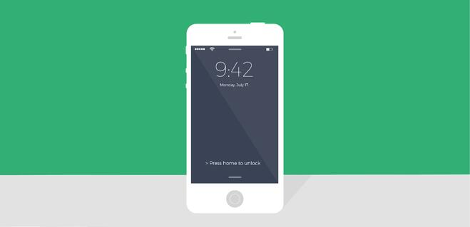 iPhone lockscreen image