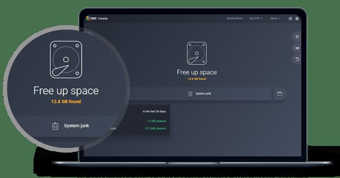AVGTuneUp supprime les fichiers inutiles et le contenu indésirable de votre navigateur et de votre système afin de libérer de l'espace.