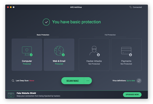 Gebruik AVG AntiVirus FREE om virussen en andere malware van uw Mac te weren.