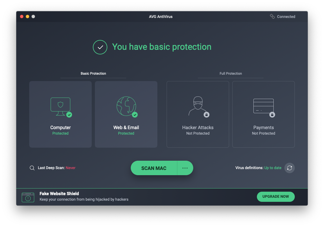 AVG AntiVirus FREE blocks hacks and other threats.