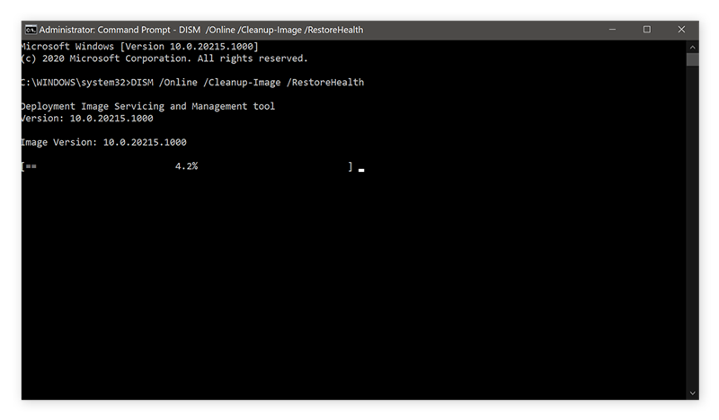 Using the Command Prompt to check your entire Windows system for errors.