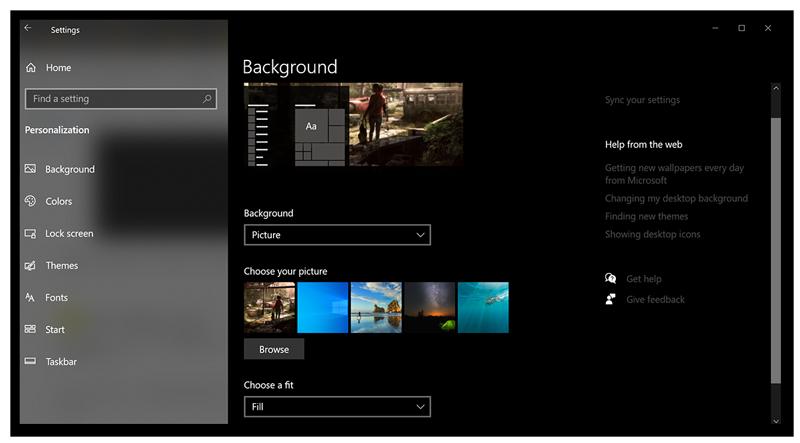 Customizing the Desktop Icon Settings in Windows 10.