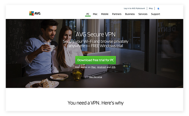 Downloading AVG Secure VPN for Windows