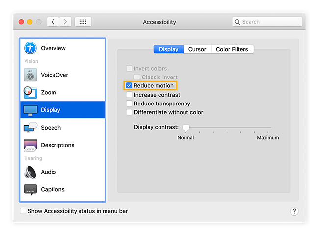 Go into your Accessibility display settings to disable visual effects.
