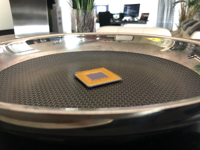 Stress testing your CPU with a frying pan, or the wrong way to stress test a CPU.
