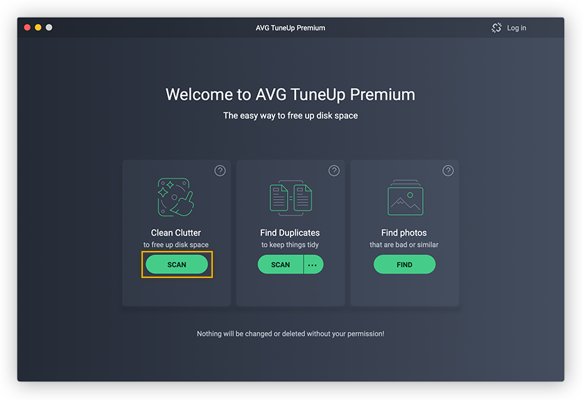 AVG TuneUp lets you easily clear out clutter from your hard drive to free up storage space.