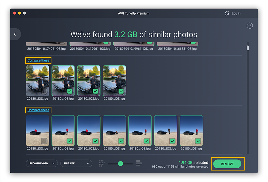 AVG TuneUp for Mac will comb through your photo library so you can delete low quality and blurry shots.