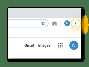 """Comience por abrir """"Ajustes, Año Nuevo'"""" en Google Chrome."""