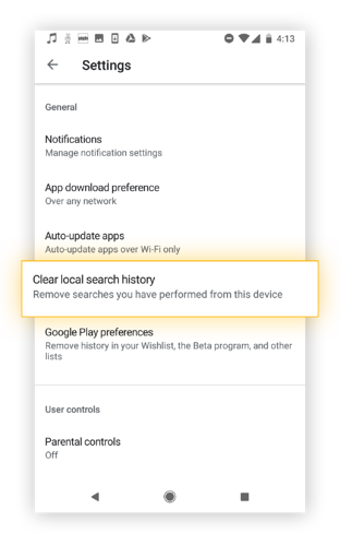 Here's how to clear your local search history in the Google Play Store.