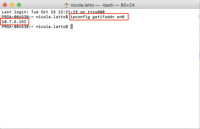 Aqui está como usar o Terminal para encontrar seu IP local em uma Wi-Fi.