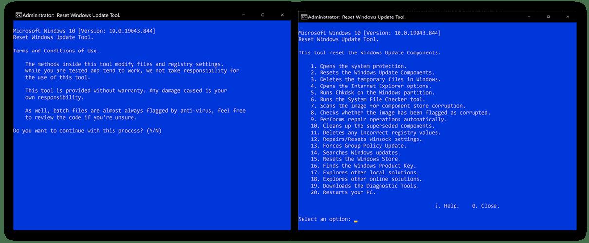 Running the Windows Update repair utility to fix Windows Modules Installer's high CPU usage.