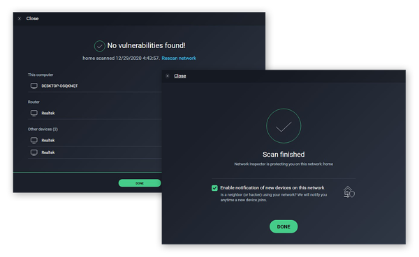Using the Network Inspector in AVG AntiVirus FREE to scan and protect a wireless network