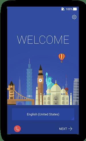 Welkomstscherm in Android