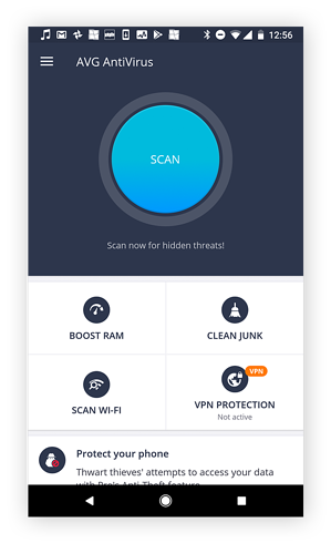 Download AVG AntiVirus to prevent viruses on your Android.