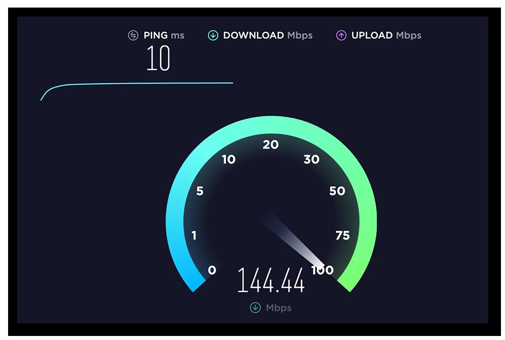 An internet speed test at http://www.speedtest.net