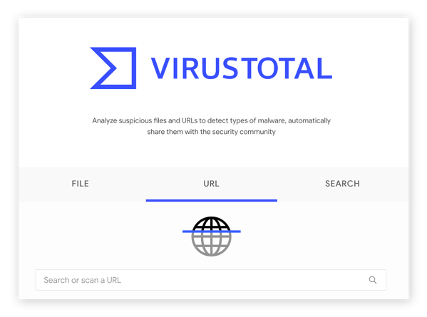 VirusTotal is another free site checker that assess website safety quickly.