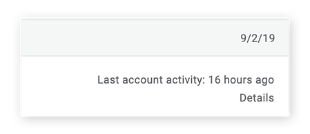 The account activity details link in Gmail
