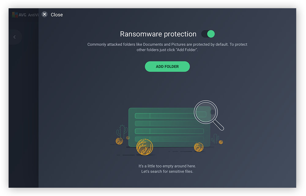 AVG AntiVirus has built-in ransomware protection to keep your important files secure.