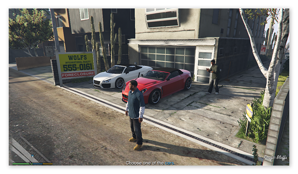 Grand Theft Auto V on Windows 10 with the lowest graphics settings