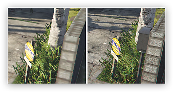 The difference between lower texture settings and higher texture settings in Grand Theft Auto V on Windows 10
