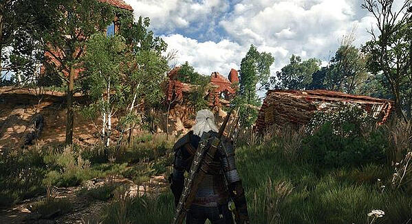 Captura de tela do game Witcher