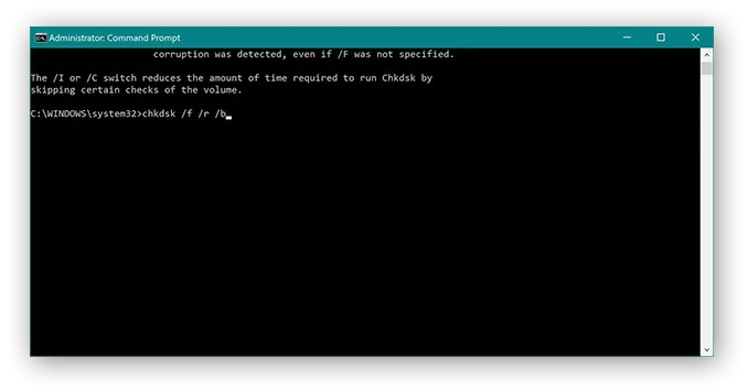 The administrator command prompt
