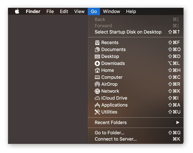 Open Finder to begin the reformatting process in Mac