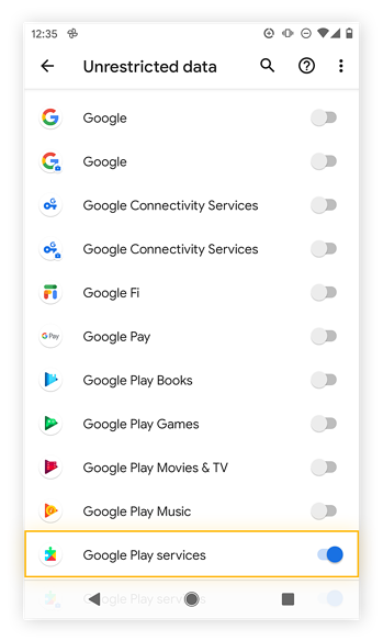Allowing specifc apps to use unrestricted data despite data saver mode in Android 11