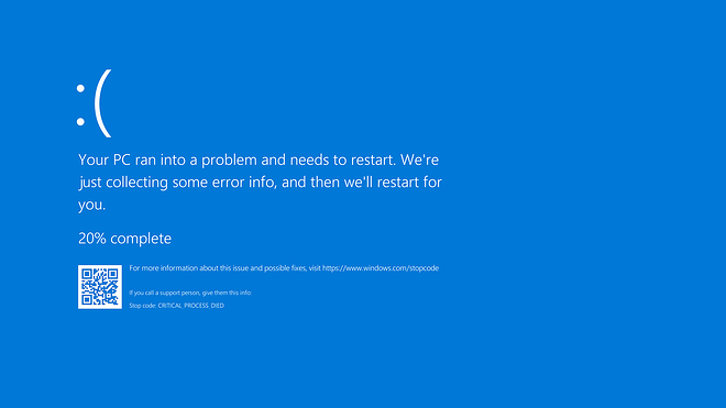 Blue Screen of Death is a telltale sign that a malicious rootkit might be embedded in your computer.
