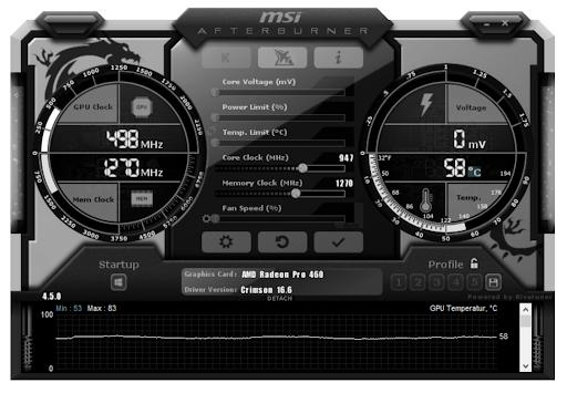 MSI Afterburner - Screenshot