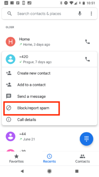 Follow these steps to block a spam number on Android.