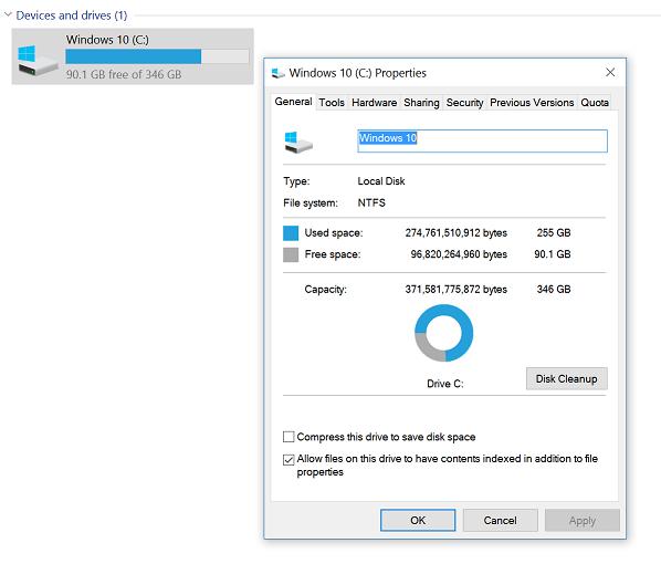 Windows-Eigenschaften