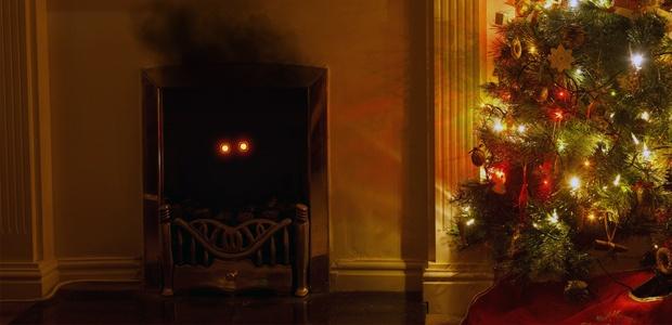 Evil santa in a chimney
