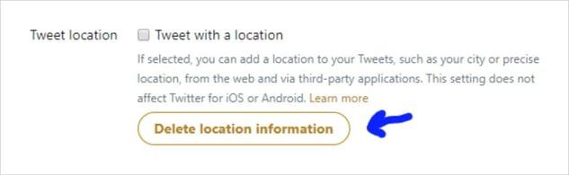 Uw locatiegegevens verwijderen uit tweets in Twitter