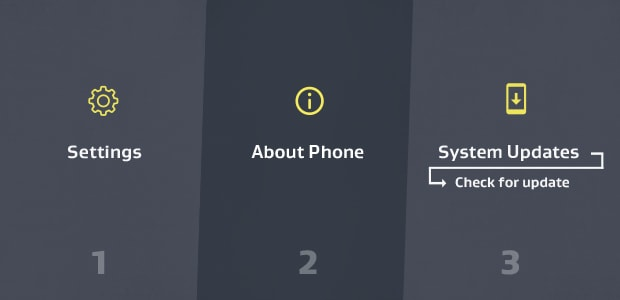 How to check for an Android system update.