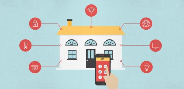Diagramm mit allen Geräten, die in einem Smart Home aktualisiert werden müssen