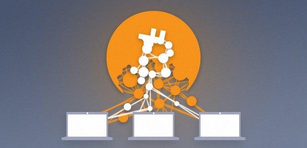 Les ordinateurs d'un botnet minant des bitcoins