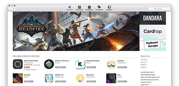Screenshot: Mac App Store
