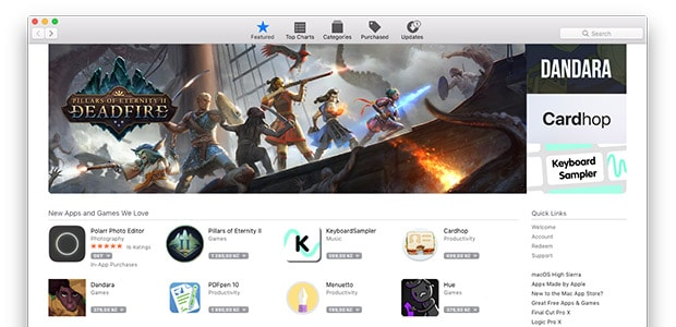 Screenshot of the Mac App Store