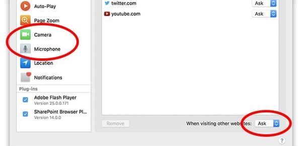 Como impedir que sites usem sua webcam e microfone