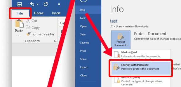 How to add a password to your Microsoft Office file