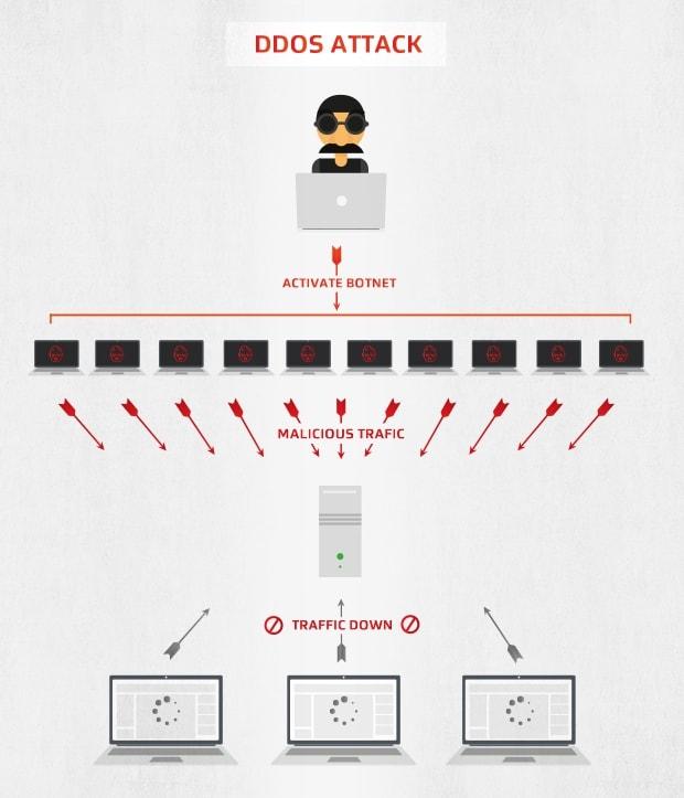 So werden Botnets bei DDOS-Angriffen eingesetzt