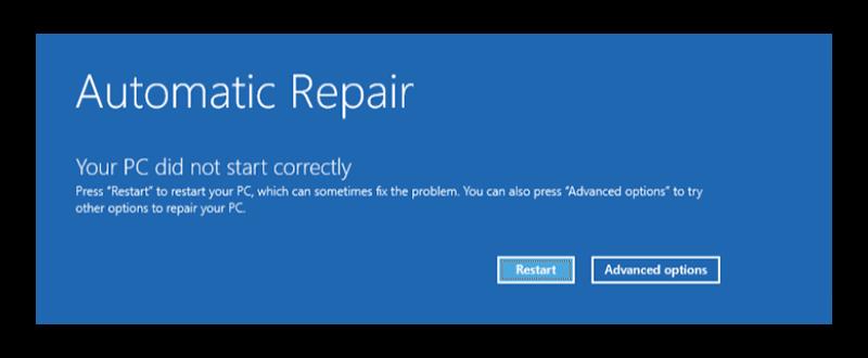 Launching Automatic Repair