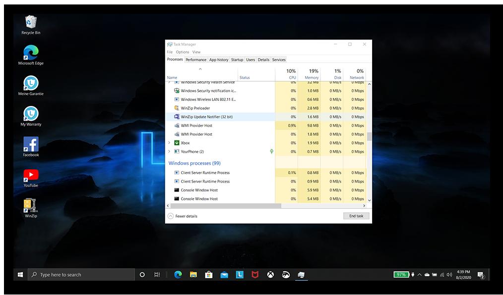 Desktop is back again