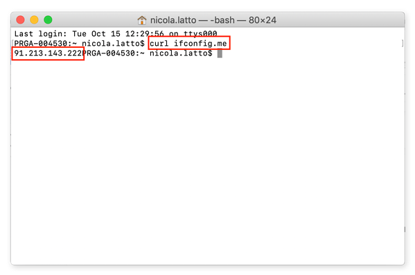 Here's how to use Terminal to find your public IP address.